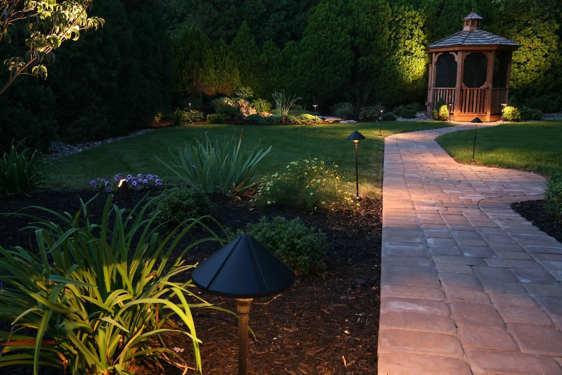 oświetleni ogrodu
